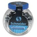 Cartouche d'encre Schneider bleue standard effaçable pot en verre de 100