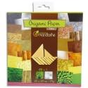 AVENUE MANDARINE Paquets de 60 feuilles d'origami imprimées 20x20 cm sur le thème de la nature.