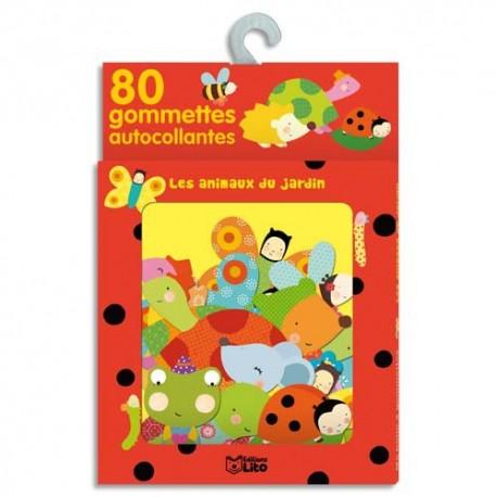 LITO DIFFUSION Boîte de 80 gommettes les animaux du jardin