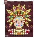 LITO DIFFUSION Bloc de 7 images et 1000 gommettes mosaïques, 21 x 26,5 cm, indiens