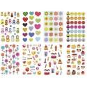 MAILDOR Sachet de 8 feuilles 251 gommettes Cooky 3D fêtes