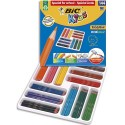 Crayons de couleur Bic Evolution corps hexagonal 12 couleurs assorties classpack de 144