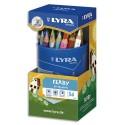 Crayon de couleur Lyra Ferby corps triangulaire mine 6,25 mm assortis pot de 36
