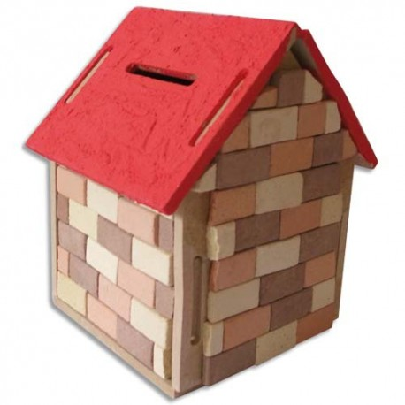 Tirelire Maison En Bois A Construire Et A Decorer Format 10 X 10 X