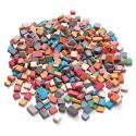 CULTURE CLUB Pot de 1 kg. de mini mosaïques antiques de 5x5mm en 12 couleurs assorties (6000 pièces)