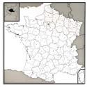LFC Carte murale France 120 x 80 cm administrative - En polypro 5/10è effaçable à sec