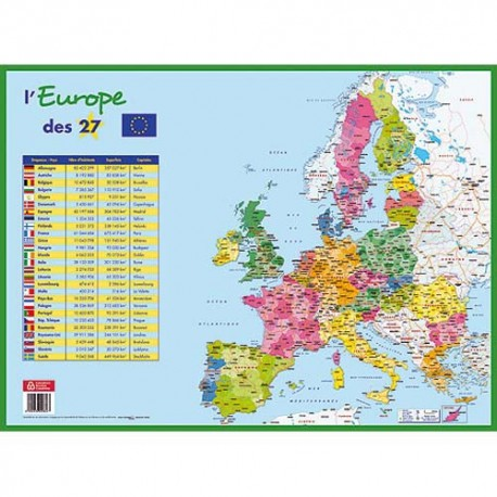 CBG Sous main carte europe, format 40,5 x 55 cm