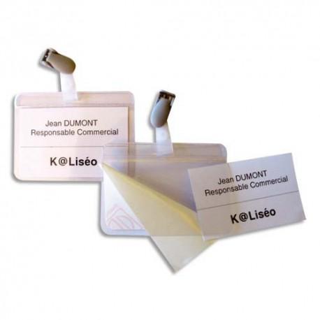 Badge Eco 5* - Boite de 25 badges auto plastifiant mm