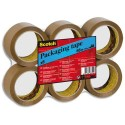 Ruban adhésif d'emballage Scotch polypropylène 48 microns - Dimensions : H50 mm x L66 mètres havane