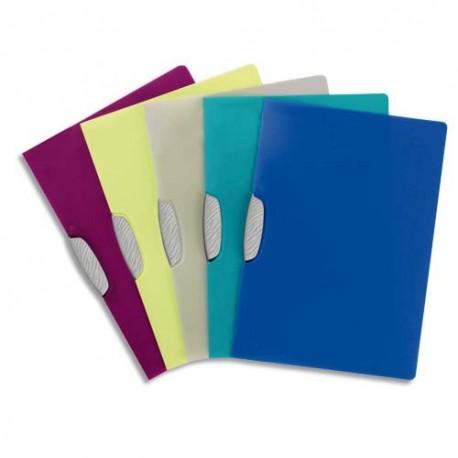 Chemise de présentation Durable Swingcip à clip coloris assortis translucides capacité 30 feuilles