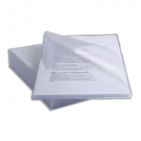 REXEL Paquet de 25 pochettes coin anti-glisse en polypropylène, format A4, incolore