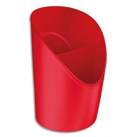 Pot à crayons ESSELTE Vivida rouge - Diam. 9 x H12,5 cm