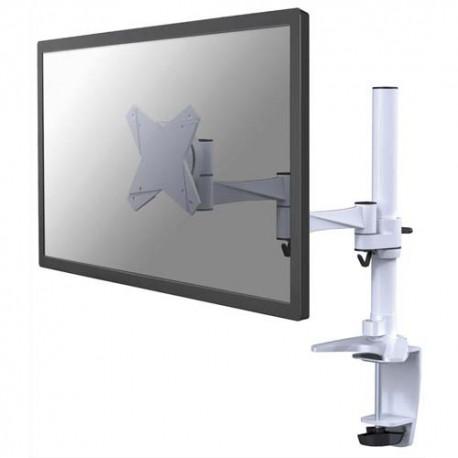NEWSTAR Support écran plat blanc à pince pour 2 écran plats plats jusqu'à 10-30'', 9Kg FPMA-D1330WHITE