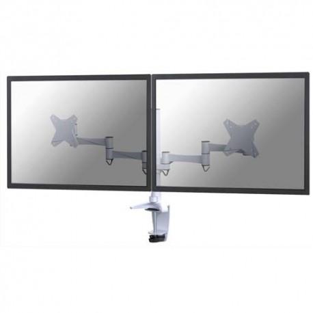 NEWSTAR Support écran plat blanc à pince pour 2 écran plats plats jusqu'à 10-27'', 18Kg FPMA-D1330DWHITE