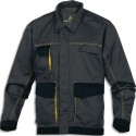 DELTA PLUS Veste D-Match 65% polyester 35%coton 4 poches fermeture zip gris jaune taille S
