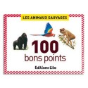 LITO DIFFUSION Boîte de 100 bons points animaux sauvages