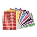 APLI Sachet 16 feuilles gommettes rectangles : bleu, jaune, mauve, noir, orange, rose, rouge, vert