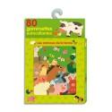 LITO DIFFUSION Boîte de 80 gommettes les animaux de la ferme