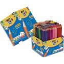 Crayon de couleur Bic Evolution corps hexagonal 12 couleurs assorties classpack 248+40 gratuits