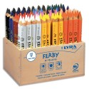 Crayon de couleur Lyra Ferby corps triangulaire mine 6,25 mm assortis présentoir en bois de 96
