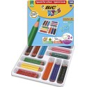 Crayon de couleur Bic Evolution triangulaire couleurs assorties classpack de 144