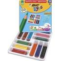 Crayon de couleur Bic Evolution triangulaire couleurs assorties classpack de 144