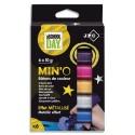 MINO Boîte de 6 sticks de gouache 10g couleurs métal assorties