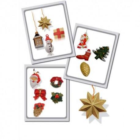 DTM Moules thermoformés thème Noël, format 4 à 6 cm