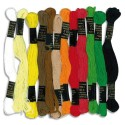 Lot de 12 échevettes de 7m à 6 brins en coton pour fabriquer des bracelets brésiliens, coloris assortis