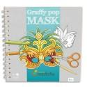 AVM Carnet de coloriage 36 feuilles, 10 masques différents x3 + 6 pages de guide. Papier 220 gr.