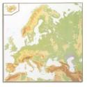 LFC Carte murale europe 120 x 80 relief - En polypro 5*10è effaçable à sec