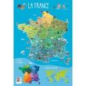 CBG Poster souple format 52 x 76cm carte de France et ses spécialités
