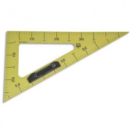Equerre 60° en plastique incassable jaune graduée 50cm avec poignée noire amovible pour tableau Safetool