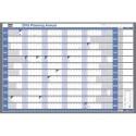 Planning Valrex - Nobo Planning annuel millésimé souple et effaçable en papier pélliculé CHRONOPLAN 99,4 x 61 cm