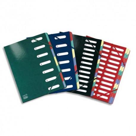Trieur ELBA Carte d'or 7 compartiments coloris assortis, couverture en carte pelliculée 7/10e