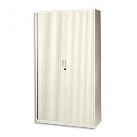 MT INTERNATIONAL Armoire haute monobloc Corps et Rideau beige - Dimensions : L100 x H198 x P43 cm