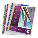 ELBA Sachet de 10 pochettes deux bords coloris assortis , polypropylène 9/100e, perforation 11 trous
