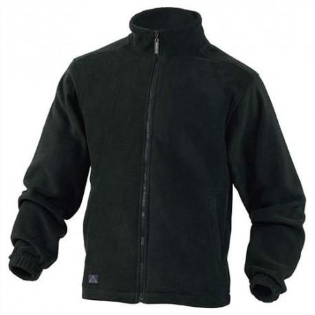 HYGIENE Veste polaire Vernon en laine polaire polyester fermeture zip 2 poches noire Taille XL