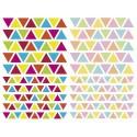 MAILDOR Sachet de 4 planches 10,5x16cm, 380 gommettes Initial triangle couleurs vif/pastel assorties