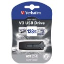 VERBATIM Clé USB 3.0 Store'n'Go V3 Noir/Gris 128Go 49189 + redevance