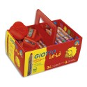 Crayon de couleur Giotto bébè maxi bois + taille crayons mine large 7 mm schoolpack de 36+3 tailles-crayons