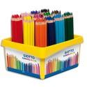 Crayons de couleur Giotto Méga gros module Méga  PEFC schoolpack de 108 couleurs