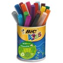 Feutre de coloriage Bic Visacolor XL pointe extra-large pot de 18 feutres dessin couleurs assorties
