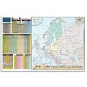 LFC Carte murale europe 120 x 80 administrative - En polypro 5*10è effaçable à sec