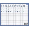 CBG Ardoise Effaçable à sec rembordée - 2 faces Alphabet avec lignes seyes - 21x26,5 cm