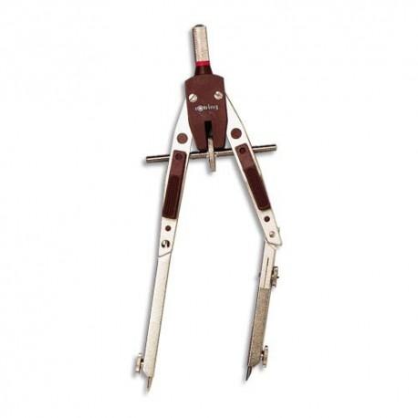 Compas technique CENTRO à réglage rapide nickelé mat avec allonge Rotring
