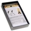 EXACOMPTA Socle FAF N°4, format 21X13,5cm en tôle aluminium avec recharge papier uni