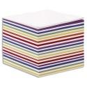 QUO VADIS Bloc cube blanc et couleur 9x9x9cm 700 feuilles encollées 90g
