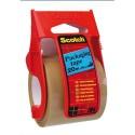 Ruban adhésif d'emballage Scotch polypropylène 48 microns H50,8 x L20,3m havane sur petit dévidoir