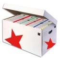 Archivage Eco 5* Conteneur ouverture sur le dessus, couvercle attenant, kraft blanc, montage automatique